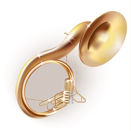 tuba: Musical series - Classical sousaphone, isolated on white background
