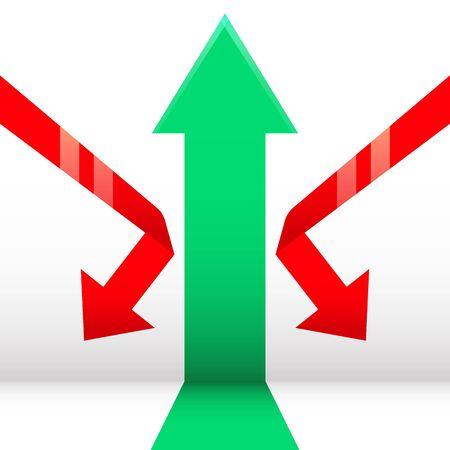 Growth&Down arrow vector