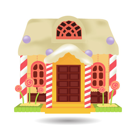 Candy House, sweet food vector