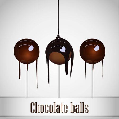 Chocolate poured on Chocolate ball