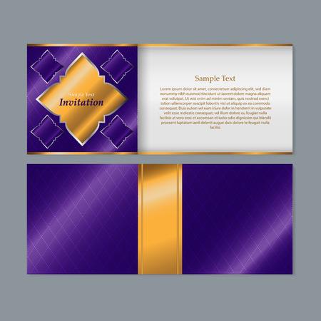 thai silk: Invitation card design - Thai art background Illustration