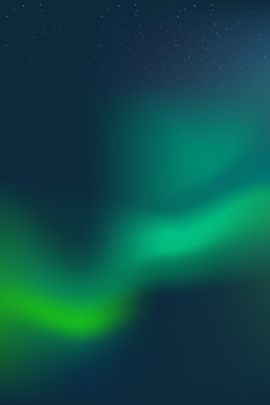 Night Sky, Aurora Borealis, Northern Lights Effect, Realistic Colored polar lights. Vector Illustration, abstract space design for aurora borealis. Imagens - 122861519