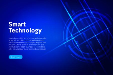 Smart technology modern design - Vector