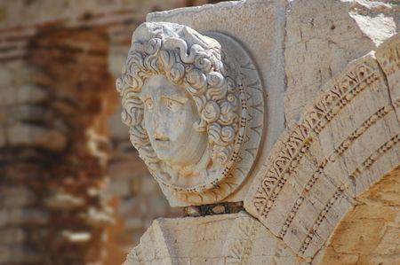civilisations: Gorgon�s head, The Septimius Severus new forum, Leptis Magna, Libya
