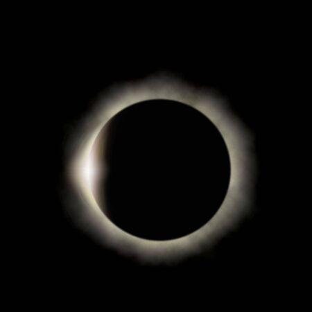 ps: Solar eclipse (ps illustration) Stock Photo
