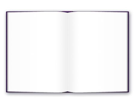 ps: PS illustration of the blank open book