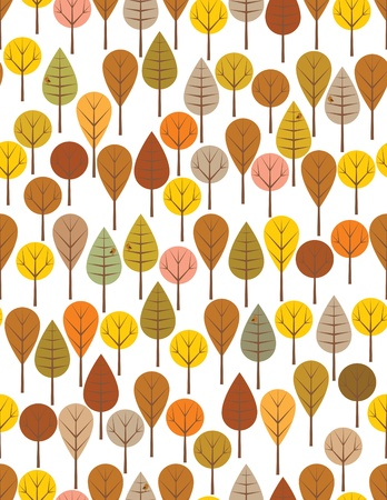 Brown woods seamless pattern for kids