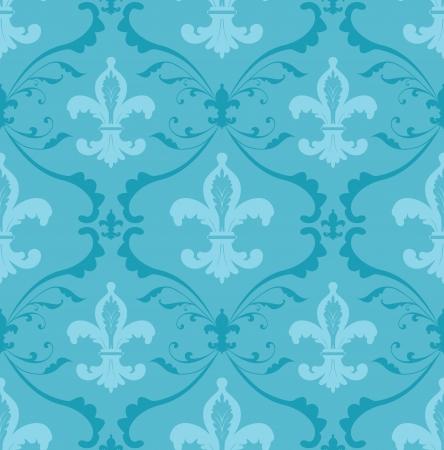 Seamless pattern fait des ornements floraux et Fleur de Lis
