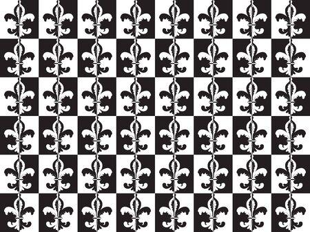 inverted: Fleur de lis optical black and white seamles wallpaper