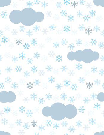 Flocons de neige et nuages ??motif transparente