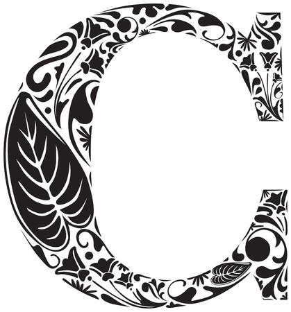 Floral premi�re lettre majuscule C