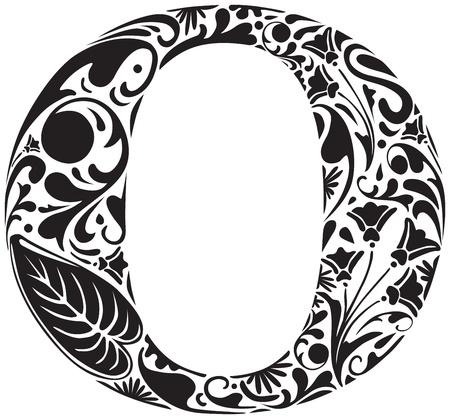 Floral initiale majuscule O