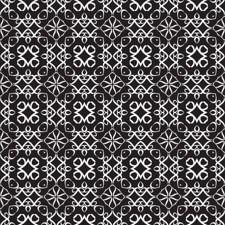 illustion: Seamless pattern made of white lines on black background Illustration