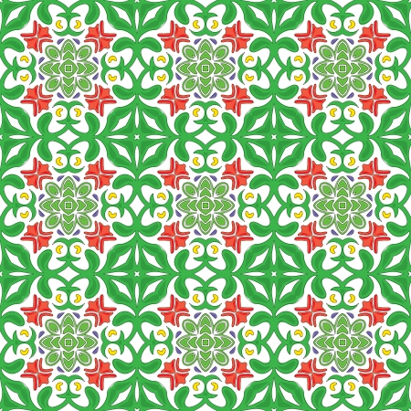 Seamless pattern - like Portuguese tiles Stock Vector - 22600120