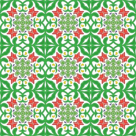 Seamless pattern - like Portuguese tiles Stock Vector - 22600120