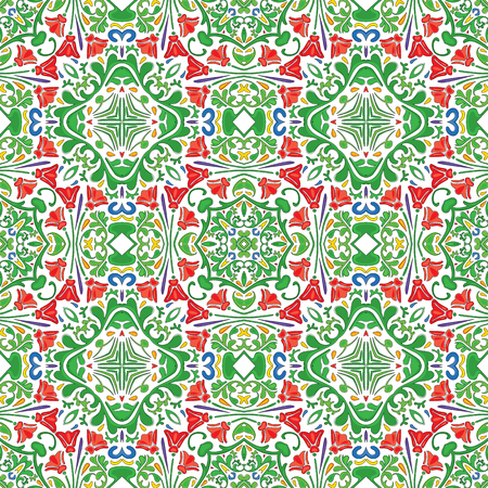 portuguese: Seamless pattern - like Portuguese tiles Illustration
