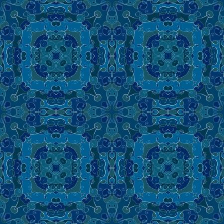 dark blue: Seamless pattern in shades of dark blue Illustration