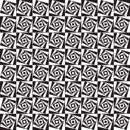 rotated: Seamless pattern made of rotated black and white squares Illustration