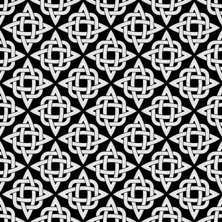interlace: Reticoli senza giunte fatte di elemets in bianco e nero