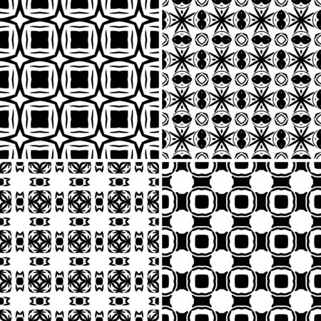 Seamless pattern illustration in traditional style Vector