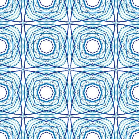 Seamless pattern illustration in blue