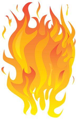 Illustration of fire flames Illustration