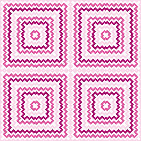 geometrical pattern: Seamless illustrated geometrical pattern in pink