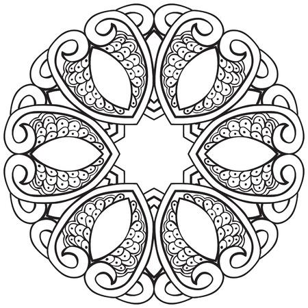 Dibujado A Mano Elementos De Diseño Decorativo - Colorear La Hoja ...