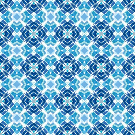 square detail: Seamless illustrated pattern made of abstract blue elements