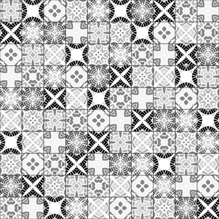 white tile: Seamless pattern illustration in traditional style Illustration