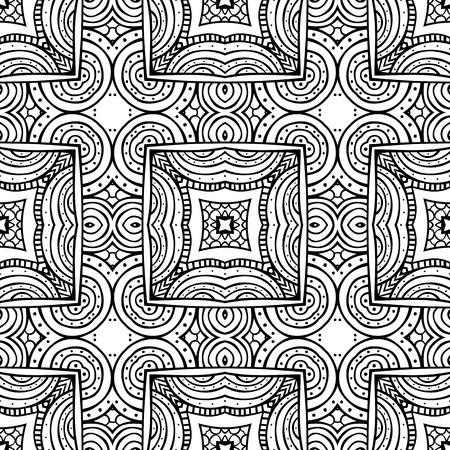 手描きの要素 - 大人のぬりえのシームレスなイラスト パターン