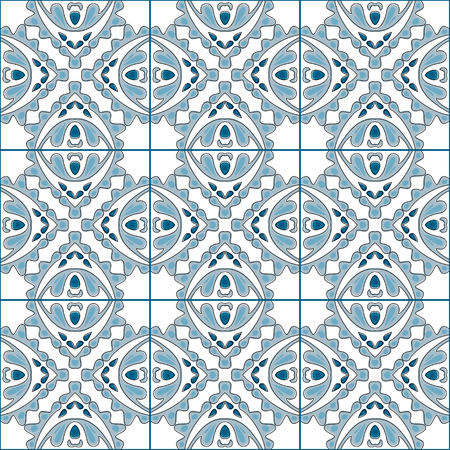 tile pattern: Seamless pattern illustration in traditional style - like Portuguese tiles