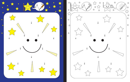 worksheet: Preschool worksheet for practicing fine motor skills and recognising numbers - connecting dots by numbers