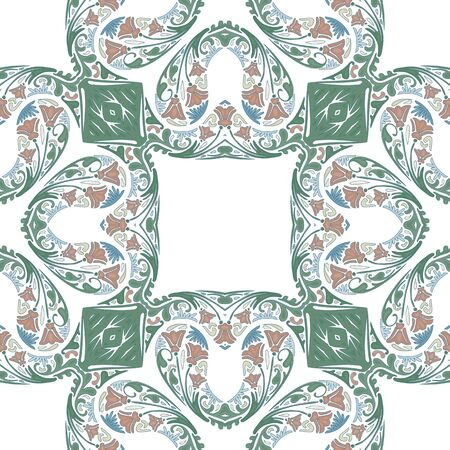 portuguese: Seamless pattern illustration in traditional style - like Portuguese tiles