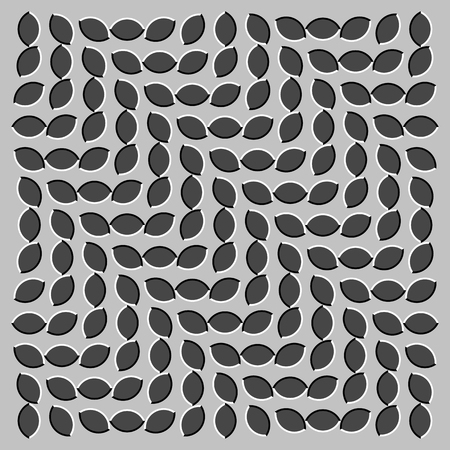 appears: Optical illusion - illustration appears to be moving
