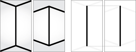 Optical illusion - two vertical lines on the left look like they are not the same size - explanation on the right