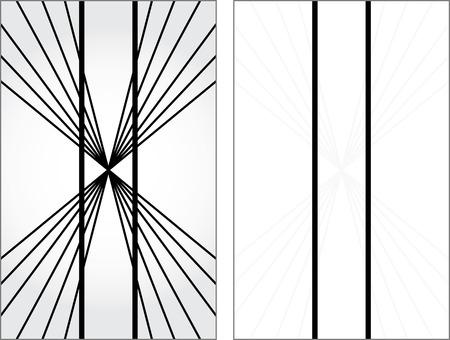 Illusion d'optique - lignes verticales semblent être non parallèles et droites - explication sur la droite