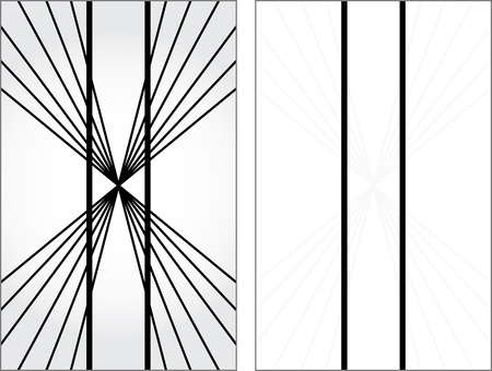 explanation: Optical illusion - vertical lines appear to be not parallel and straight -  explanation on the right