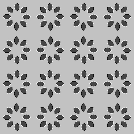 appear: Optical illusion - illustrated circles appear to be moving