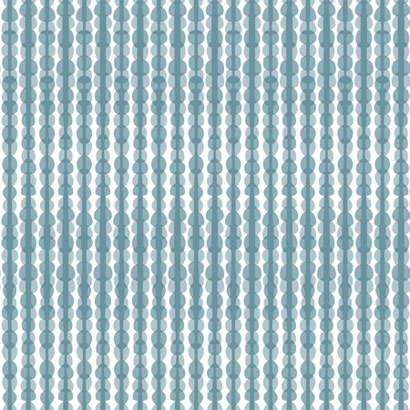 Seamless illustrated pattern made of grey blues hand drawn elements on white Stock Illustratie