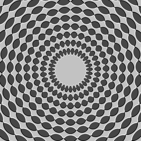 interpretation: Optical illusion - illustration that appears to be moving inward