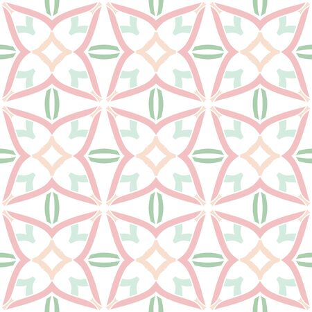 pastel colored: Seamless illustrated pattern made of abstract pastel colored on white Illustration