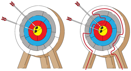 younger: Easy archery maze for younger kids with a solution Illustration