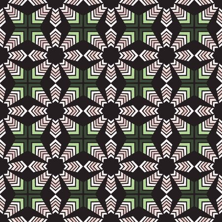 dark pastel green: Seamless illustrated pattern made of abstract elements