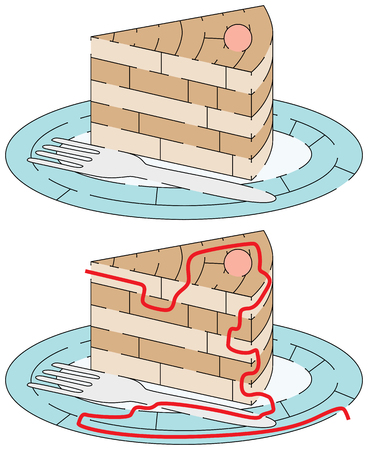 younger: Easy cake maze for younger kids with a solution Illustration