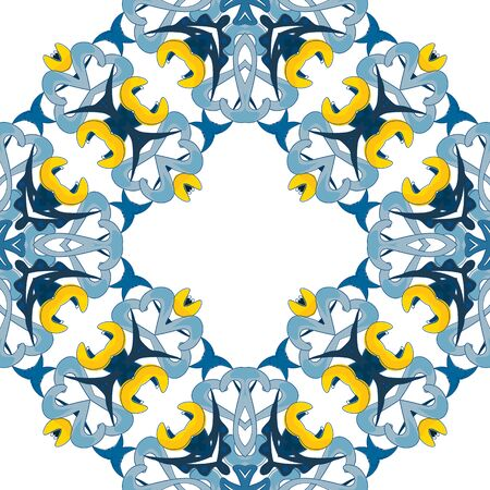 portuguese: Seamless pattern illustration in traditional style - like Portuguese tiles  Illustration