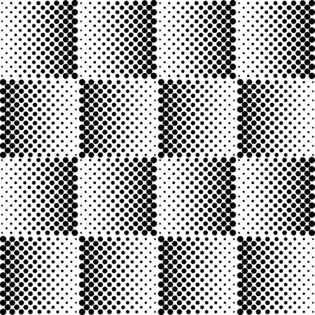 black and white: Seamless illustrated pattern in black and white