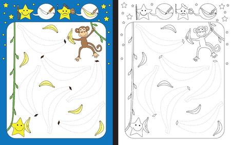 Preschool worksheet for practicing fine motor skills