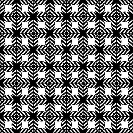 Seamless illustrated pattern made of black and  white abstract elements Illustration