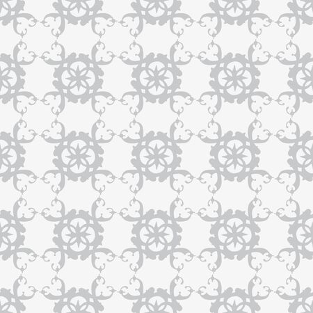 Seamless illustrated pattern made of abstract grey elements on lighter grey Çizim